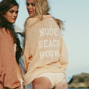 Wildfox Nude Beach Bound hooded coverup